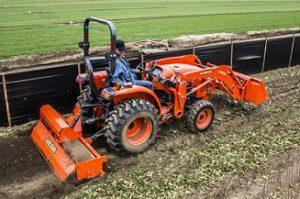 Kubota L3901 Tractor with Tiller
