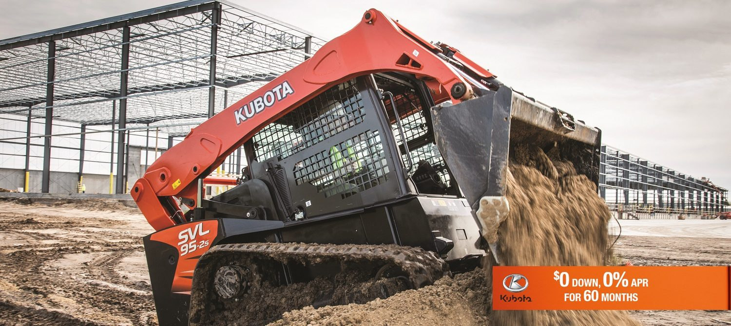 0 Percent APR for 60 Months on Kubota Cunstruction Equipment